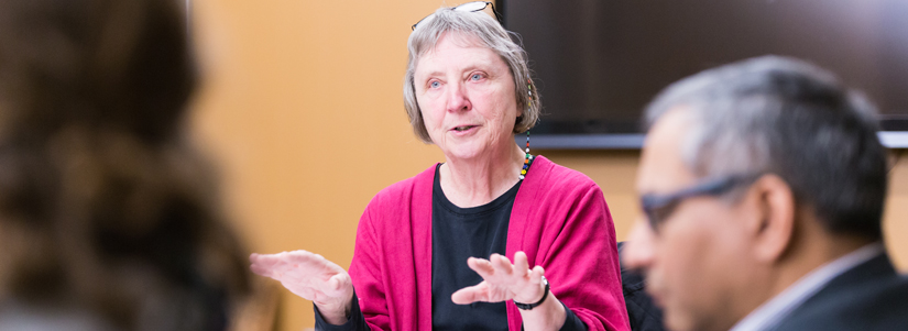 photo of a faculty member leading a workshop