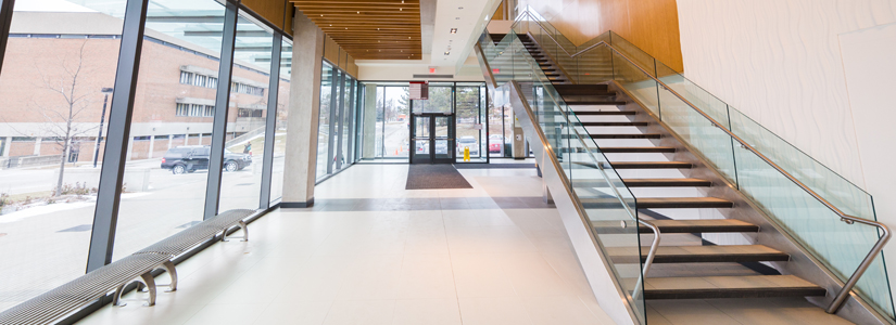 photo of the interior of the Life Sciences building