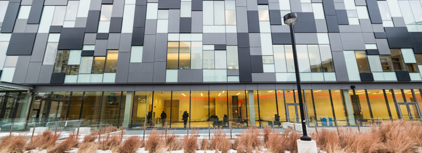 photo of the exterior of the Life Sciences building