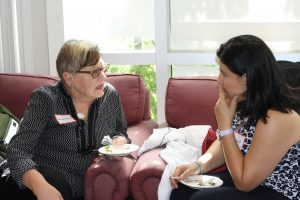 Photo of Faculty and Student in Conversation
