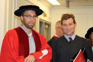 Photo of Student and Faculty Member