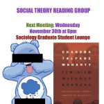 Picture of Social Theory Reading Group Advertisement
