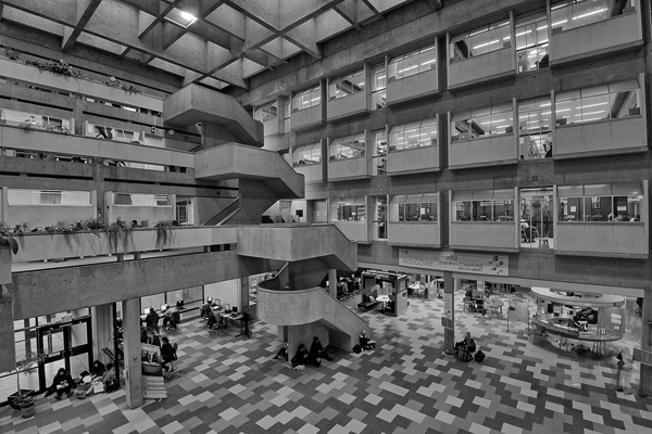 interior of Scott Library