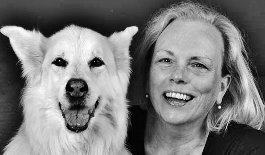 photo of Barbara Hanson and a dog